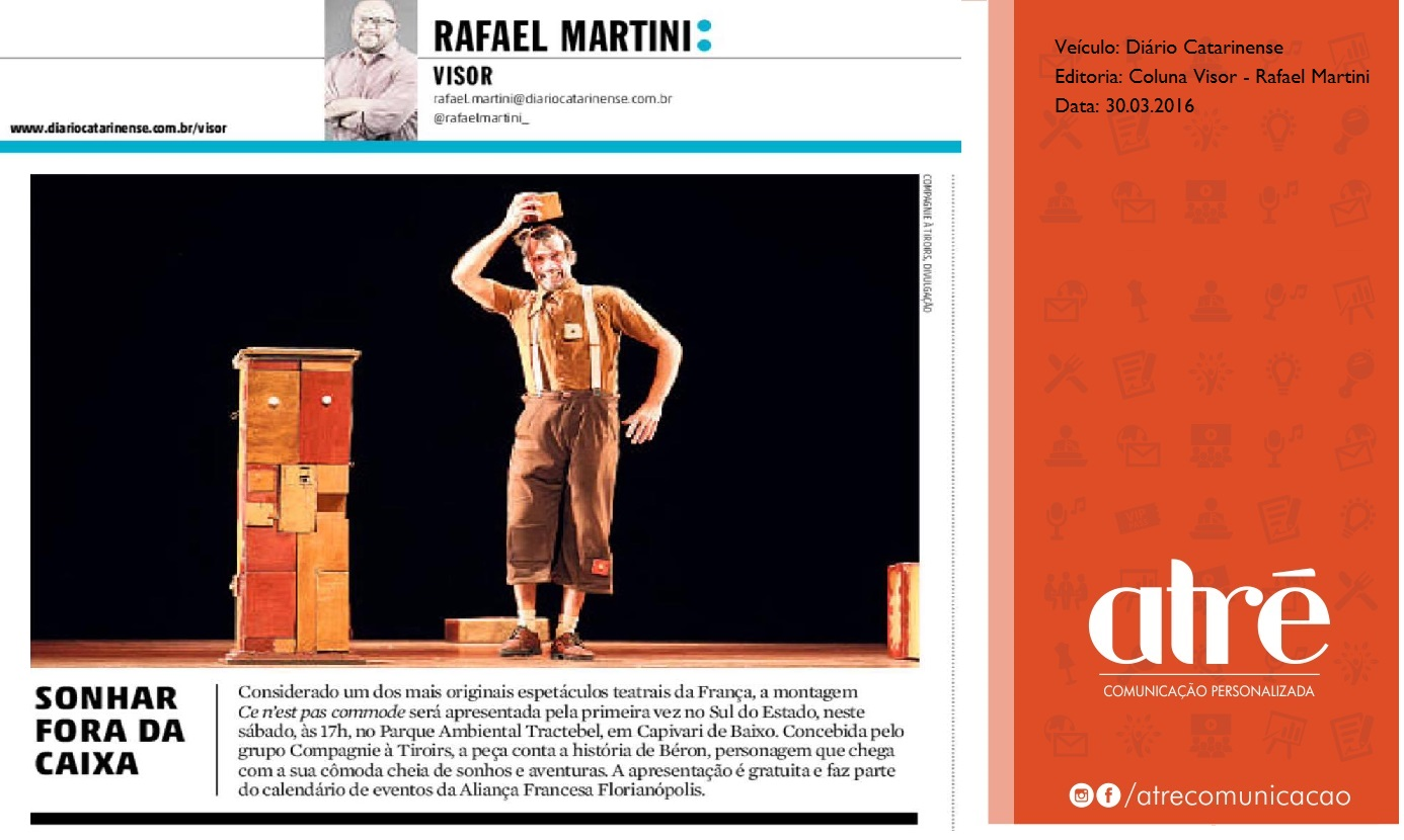 Artigo do jornal Catarinense 2016 DC 30.03