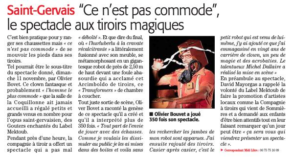 Midi Libre 19 Nov 2018