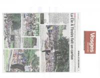 Vosges Matin – jeudi 10 août – article Cie A Tiroirs